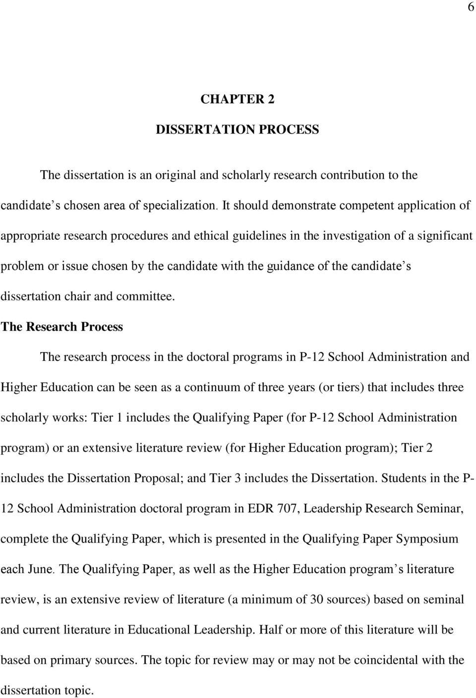 of the candidate s dissertation chair and committee.