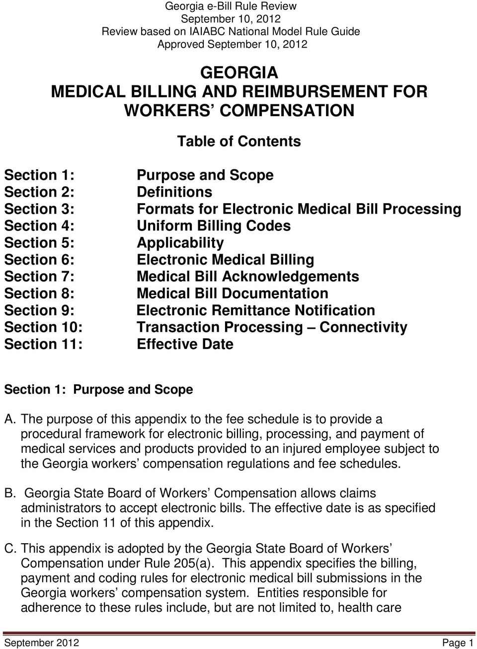 Medical Bill Documentation Electronic Remittance Notification Transaction Processing Connectivity Effective Date Section 1: Purpose and Scope A.