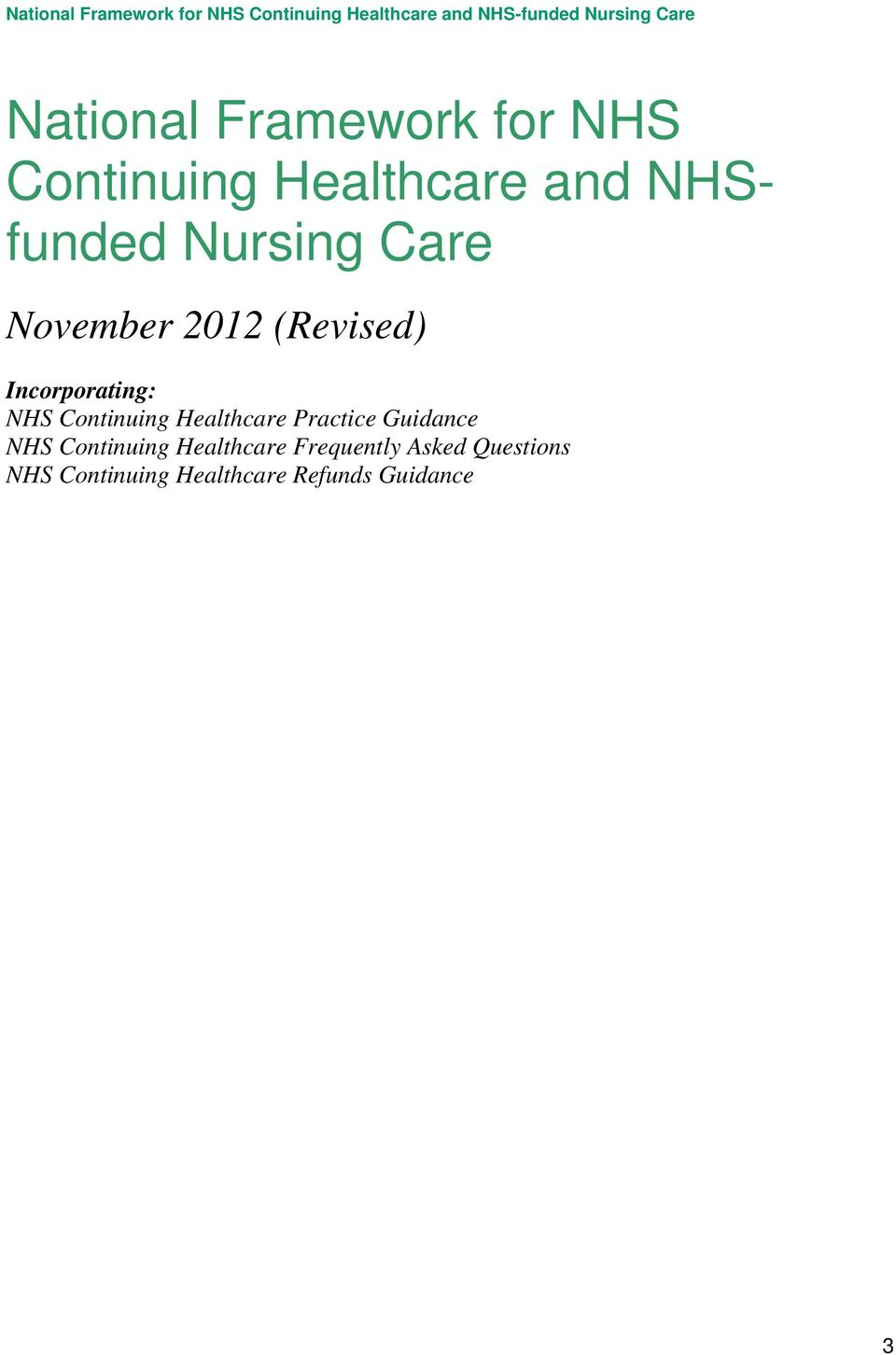 Continuing Healthcare Practice Guidance NHS Continuing