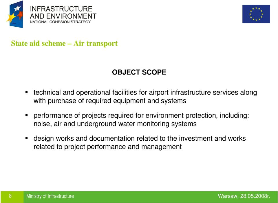 environment protection, including: noise, air and underground water monitoring systems design works and