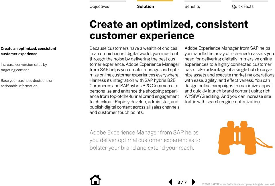 Adobe Experience Manager from SAP helps you create, manage, and optimize online customer experiences everywhere.
