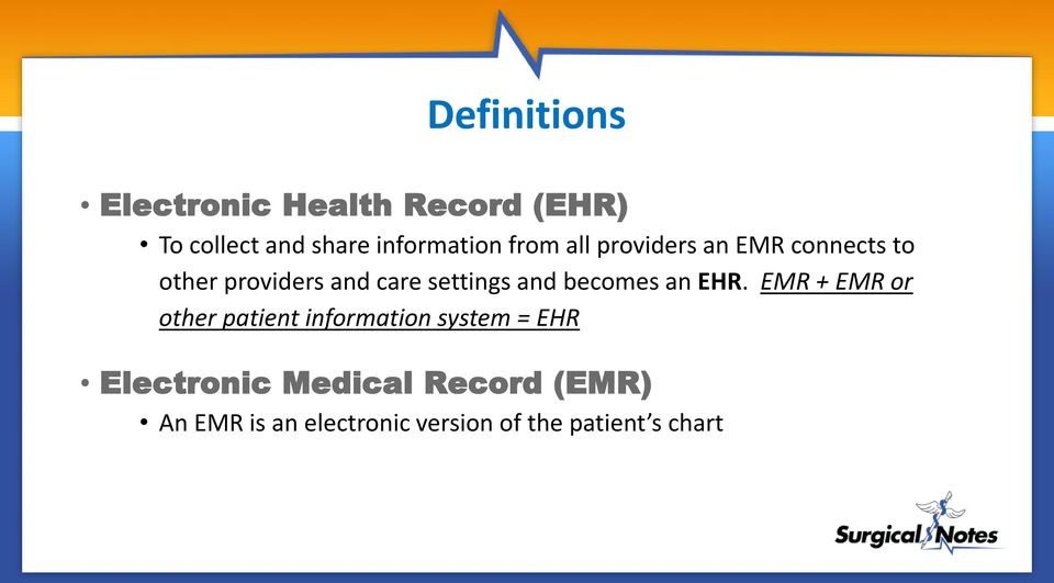 becomes an EHR.