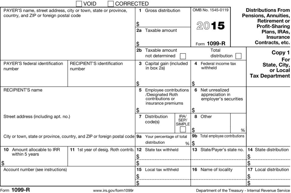 gov/form1099r Copy 1 For
