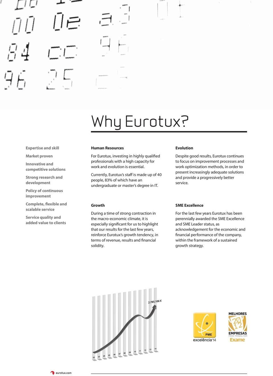 added value to clients Human Resources For Eurotux, investing in highly qualified professionals with a high capacity for work and evolution is essential.
