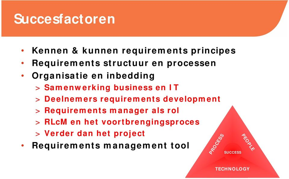 development > Requirements manager als rol > RLcM en het voortbrengingsproces