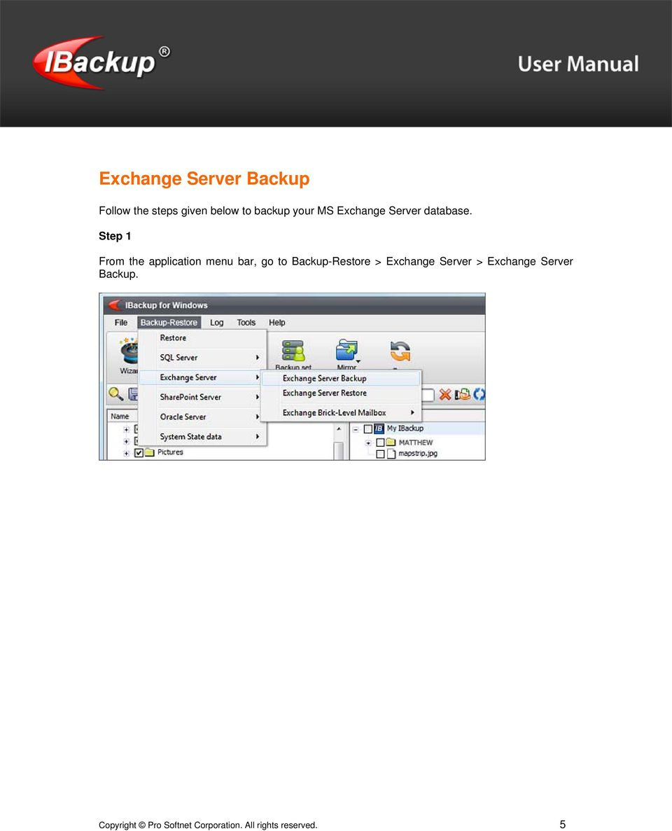 Step 1 From the application menu bar, go to Backup-Restore >