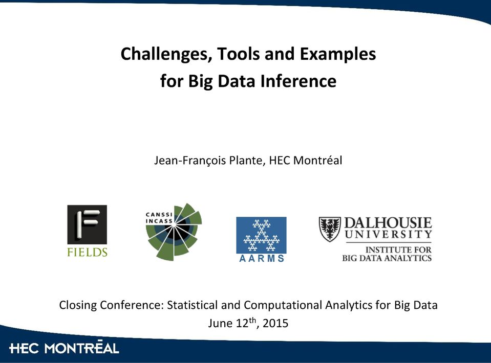 Closing Conference: Statistical and