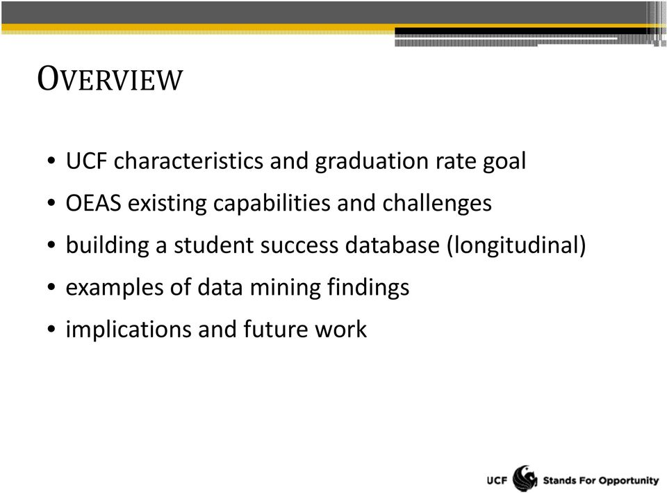 building a student success database (longitudinal)