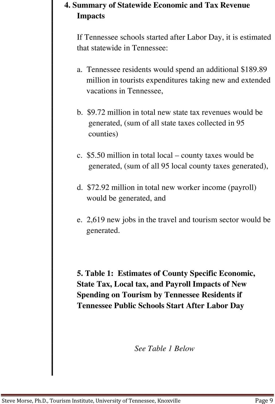 72 million in total new state tax revenues would be generated, (sum of all state taxes collected in 95 counties) c. $5.