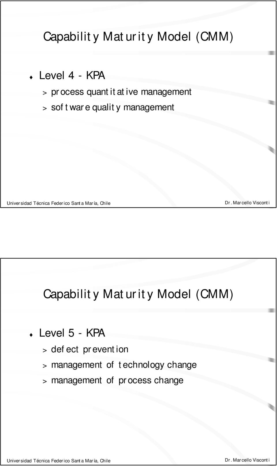 Capability Maturity Model (CMM) Level 5 - KPA > defect