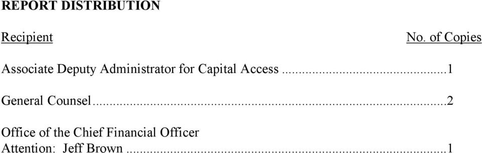Capital Access...1 General Counsel.