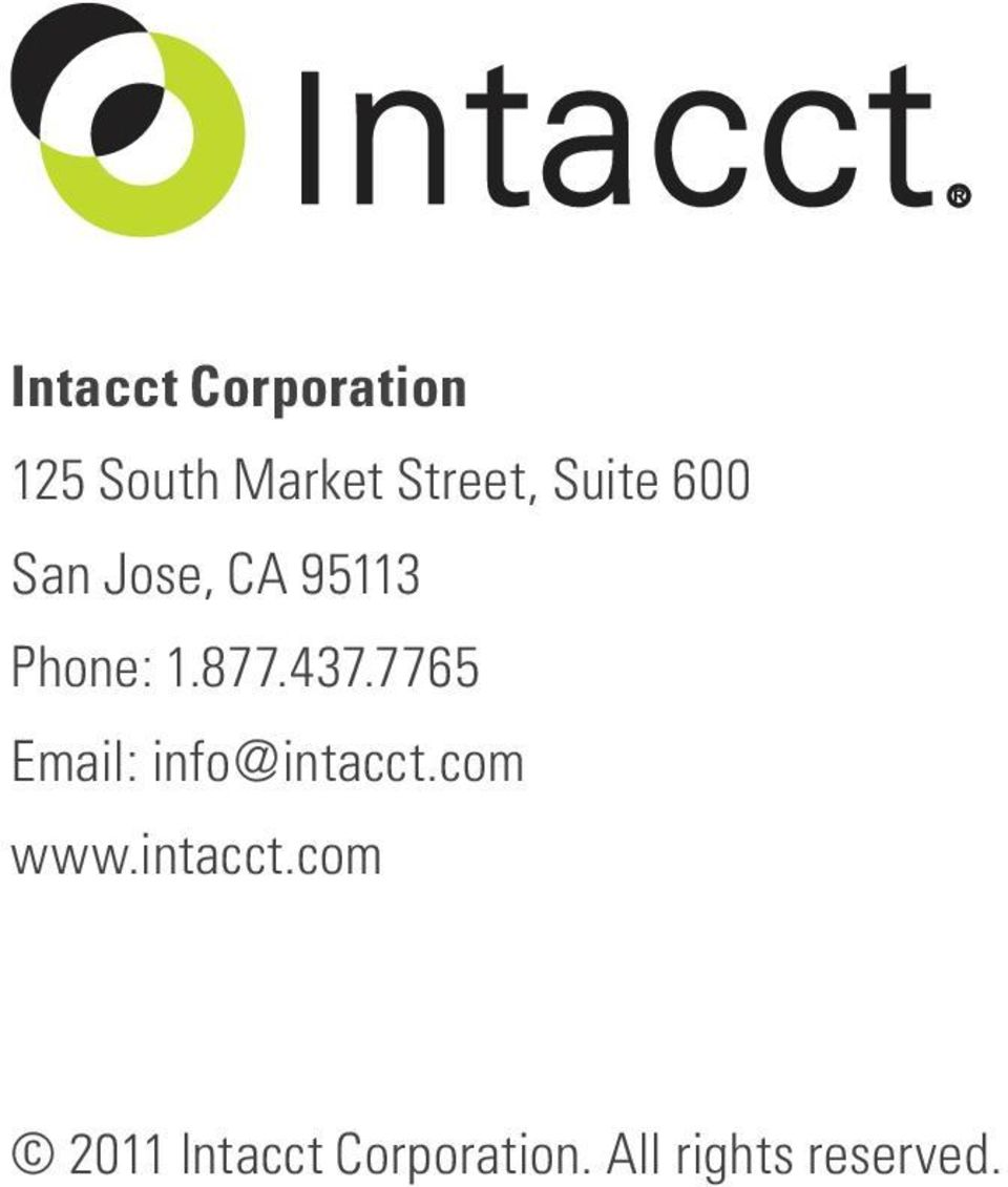 7765 Email: info@intacct.