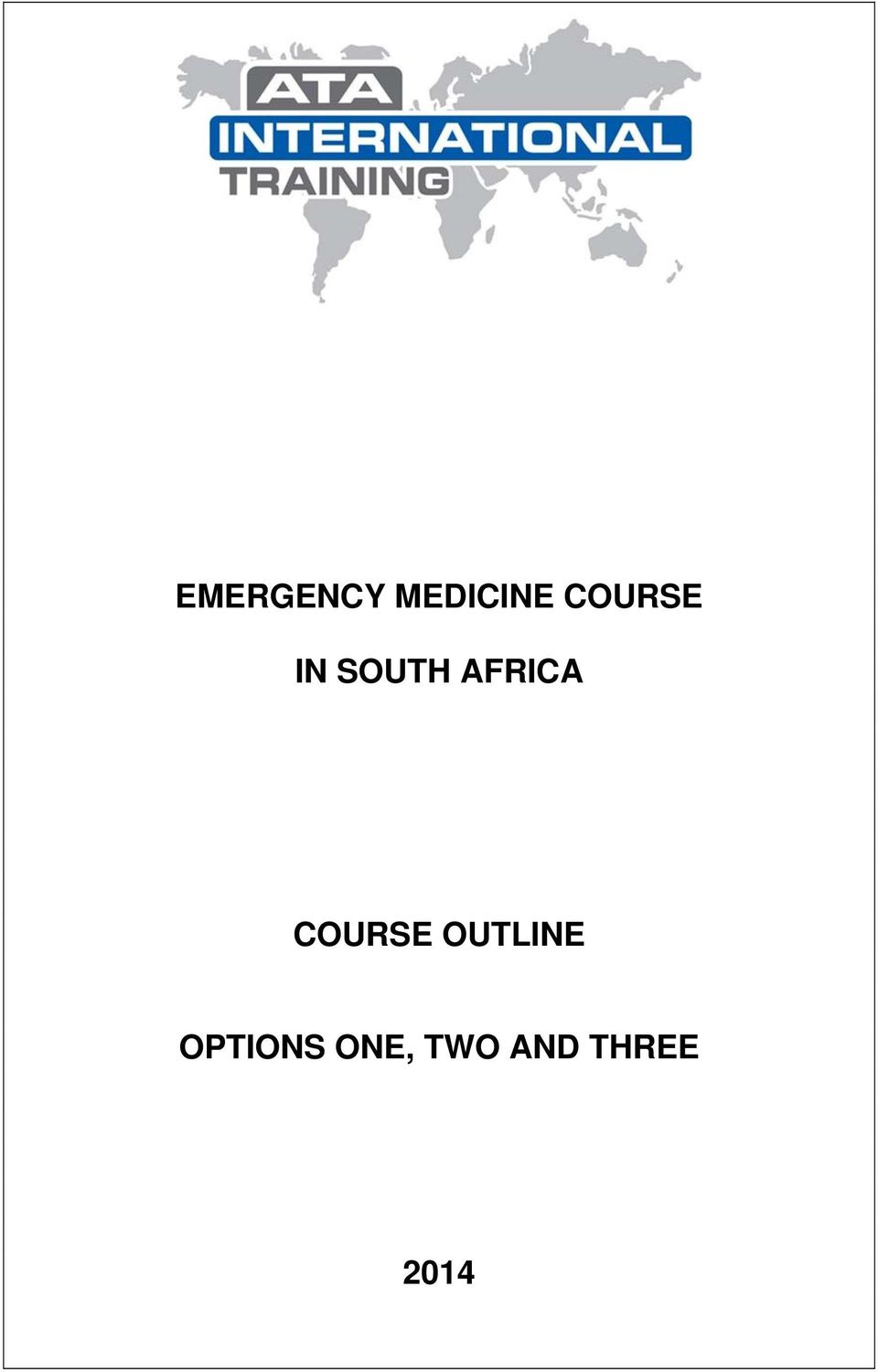 AFRICA COURSE OUTLINE