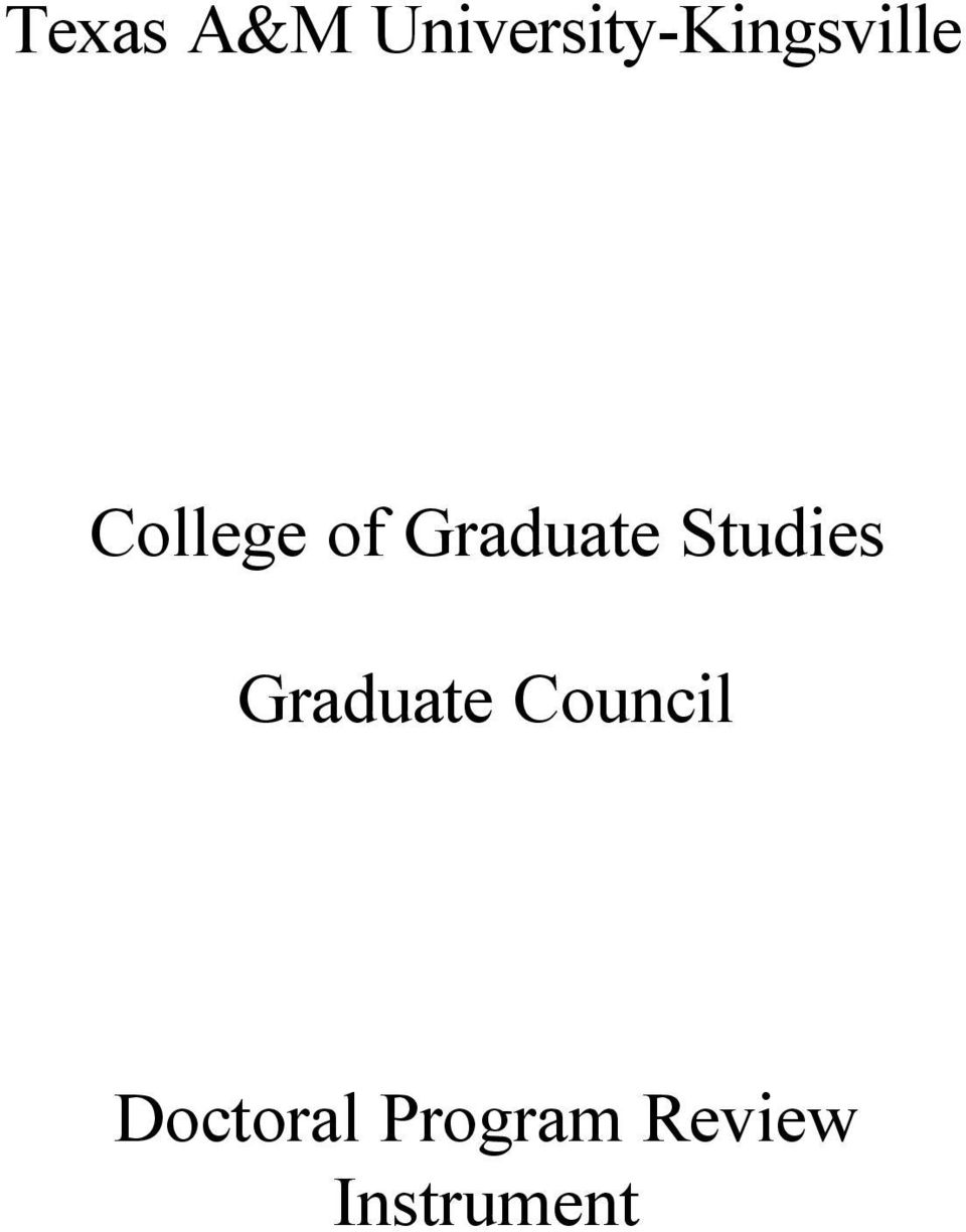 College of Graduate Studies