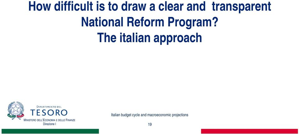 National Reform Program?