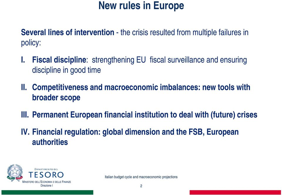 Competitiveness and macroeconomic imbalances: new tools with broader scope III.