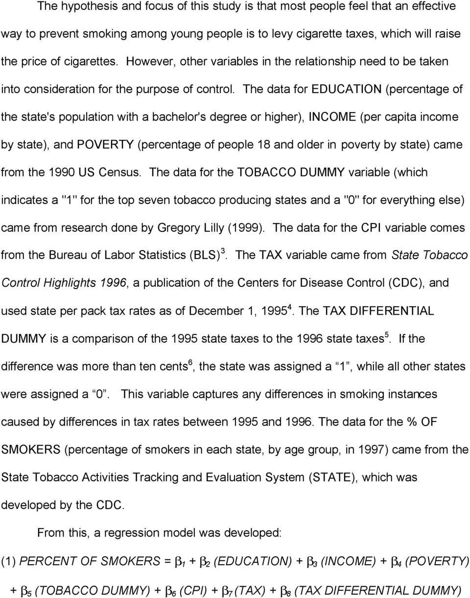 The data for EDUCATION (percentage of the state's population with a bachelor's degree or higher), INCOME (per capita income by state), and POVERTY (percentage of people 18 and older in poverty by