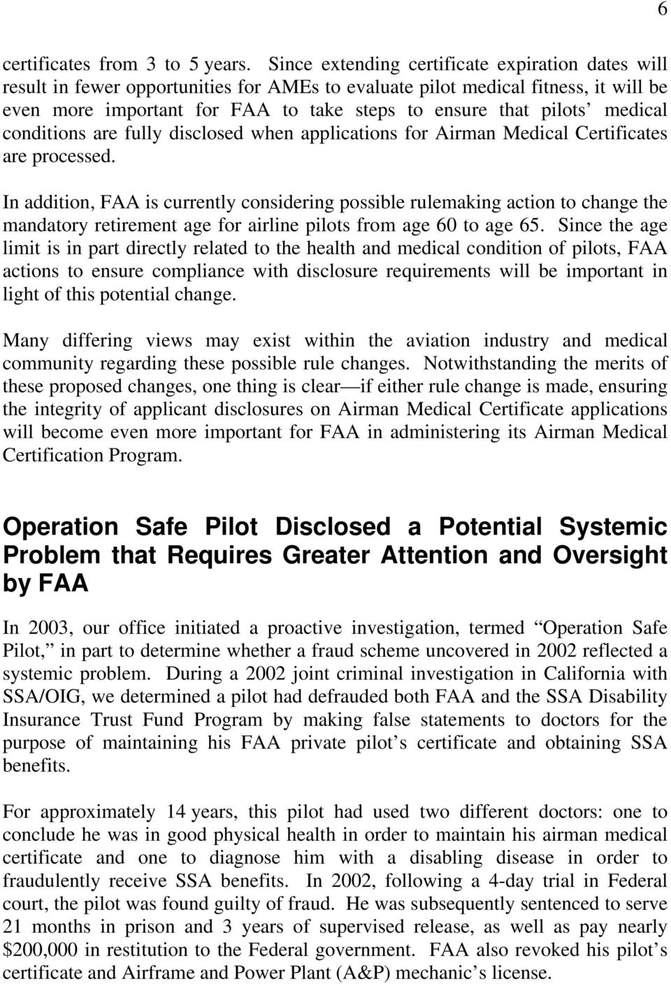 Falsification Of Faa Airman Medical Certificate Applications By