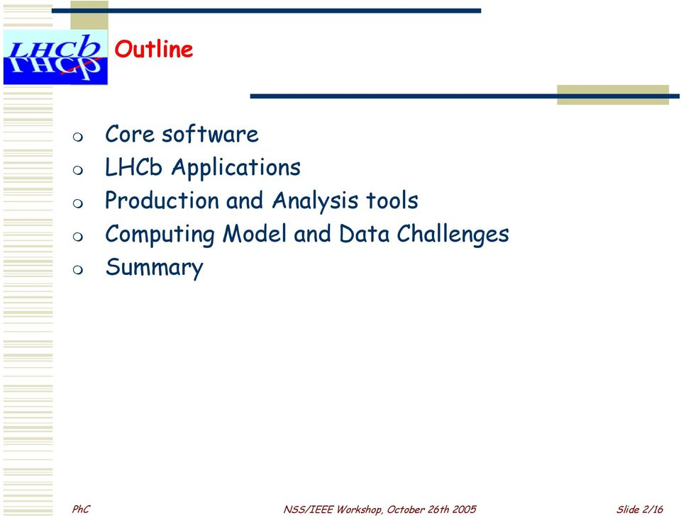 Model and Data Challenges Summary PhC