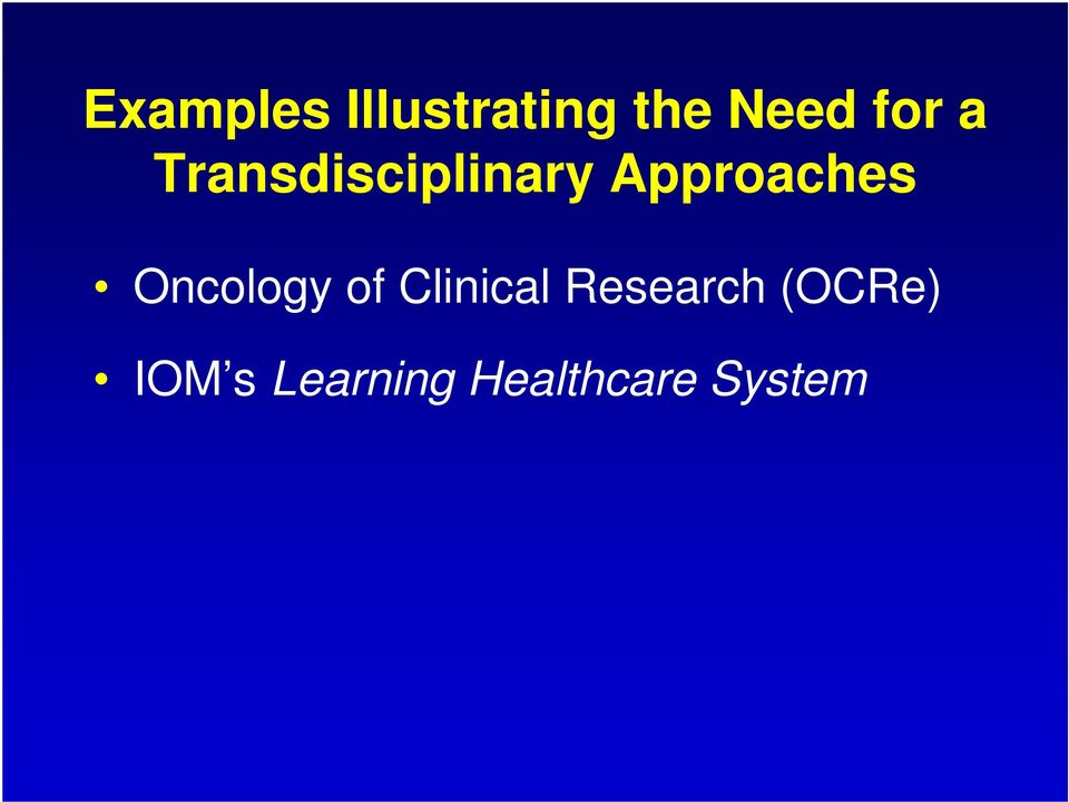 Approaches Oncology of Clinical