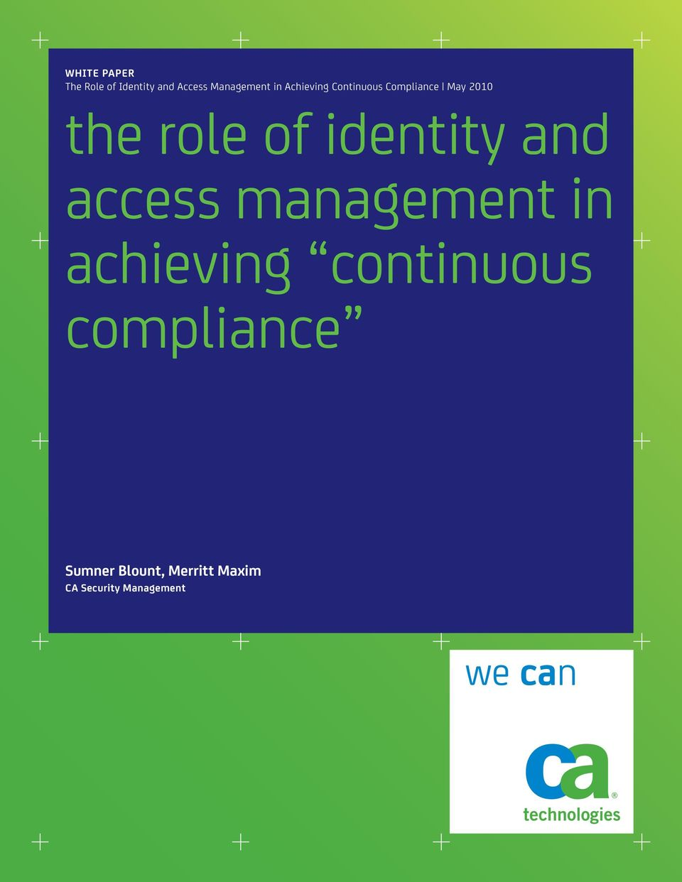 identity and access management in achieving continuous
