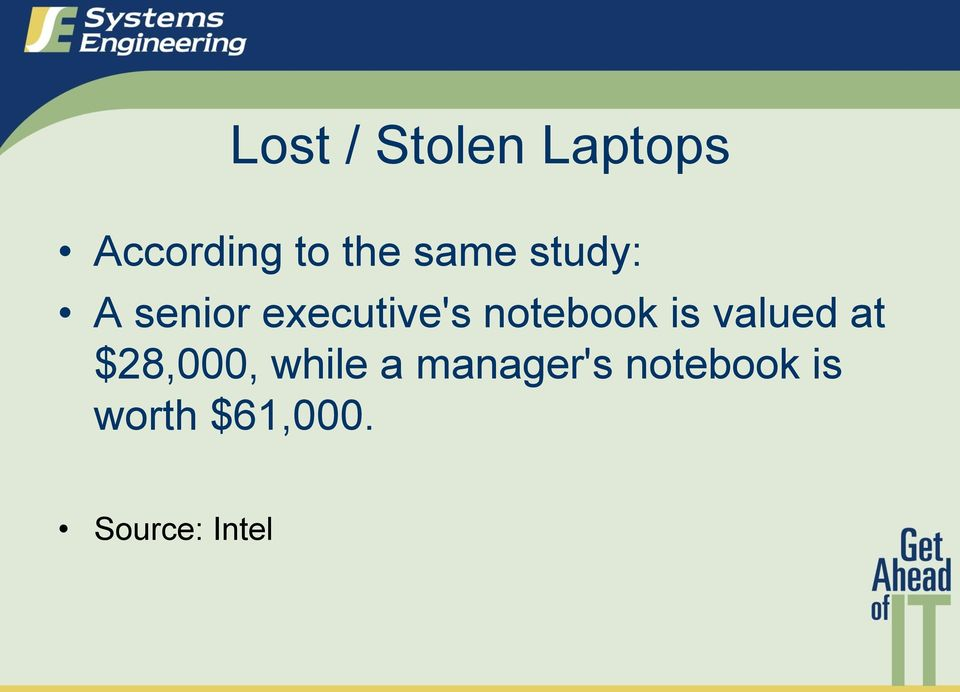 notebook is valued at $28,000, while a