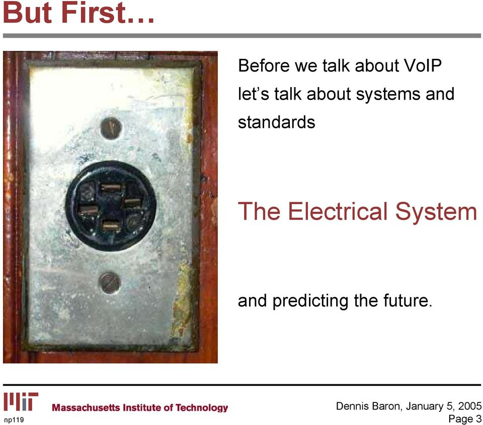 and standards The Electrical