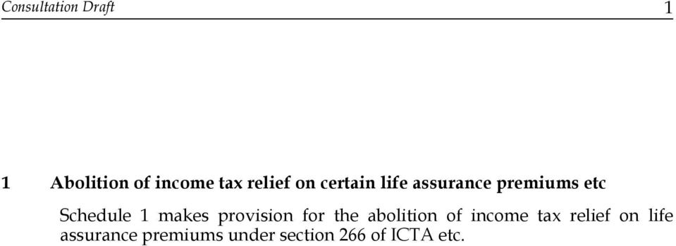 makes provision for the abolition of income tax