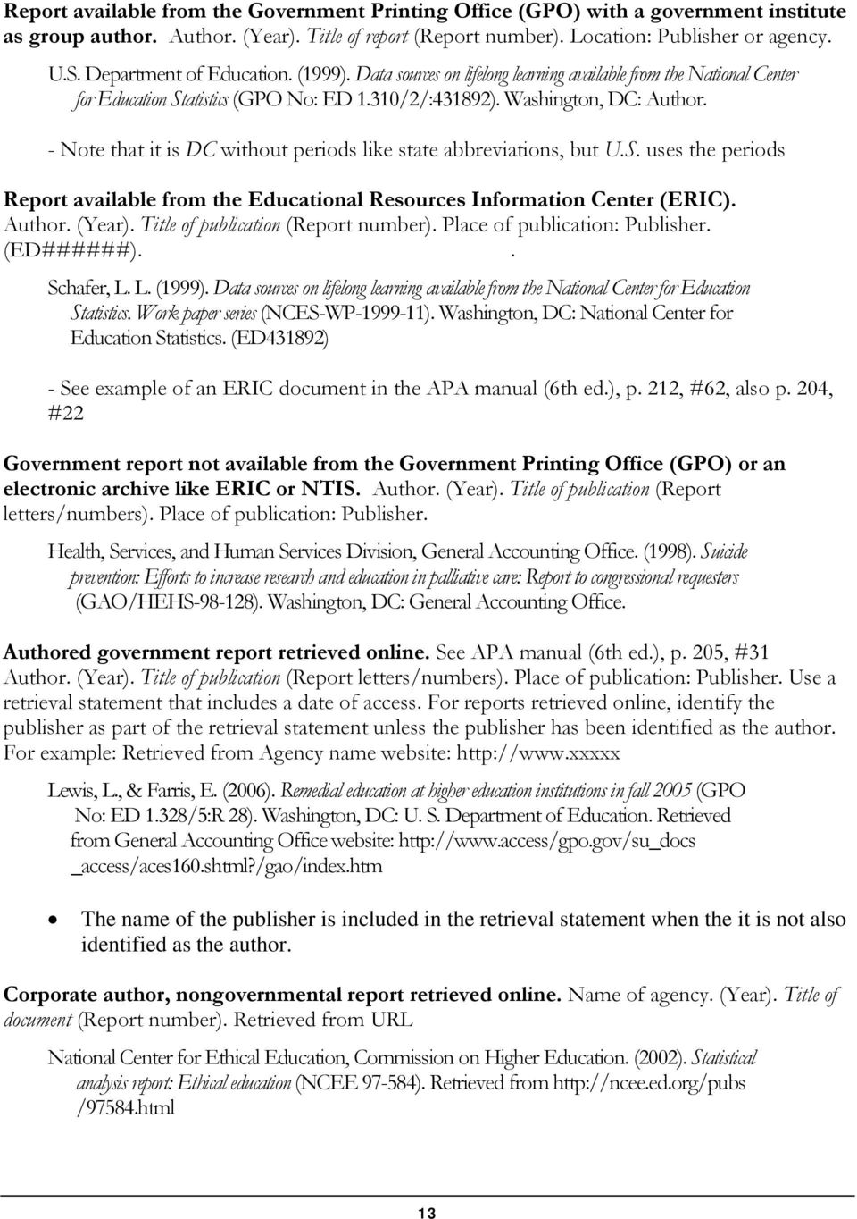 download apa manual 6th edition reference list