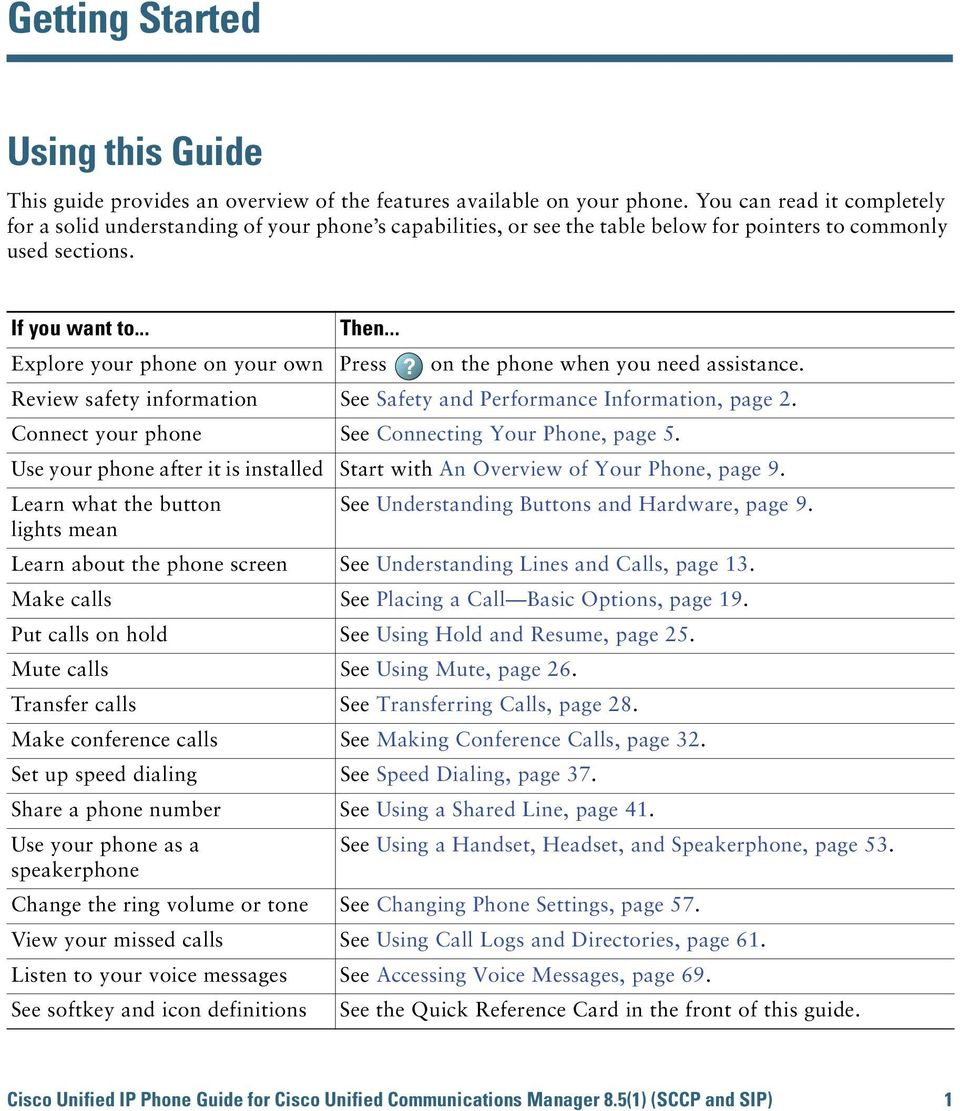 on the phone when you need assistance. Review safety information See Safety and Performance Information, page 2. Connect your phone See Connecting Your Phone, page 5.