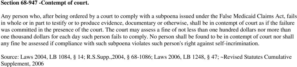 documentary or otherwise, shall be in contempt of court as if the failure was committed in the presence of the court.