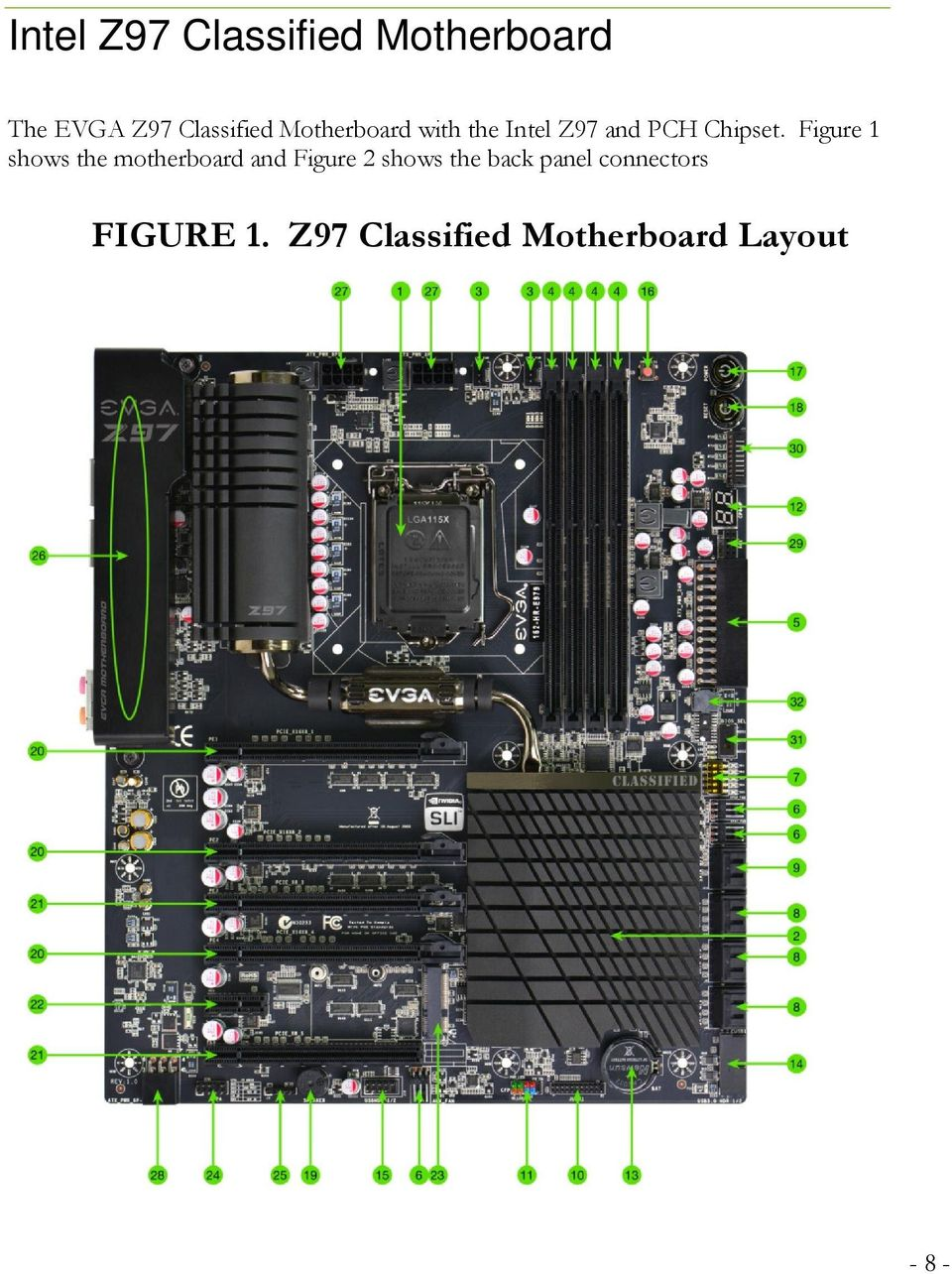 Figure 1 shows the motherboard and Figure 2 shows the