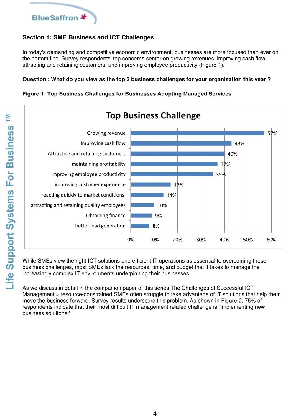 Question : What do you view as the top 3 business challenges for your organisation this year?