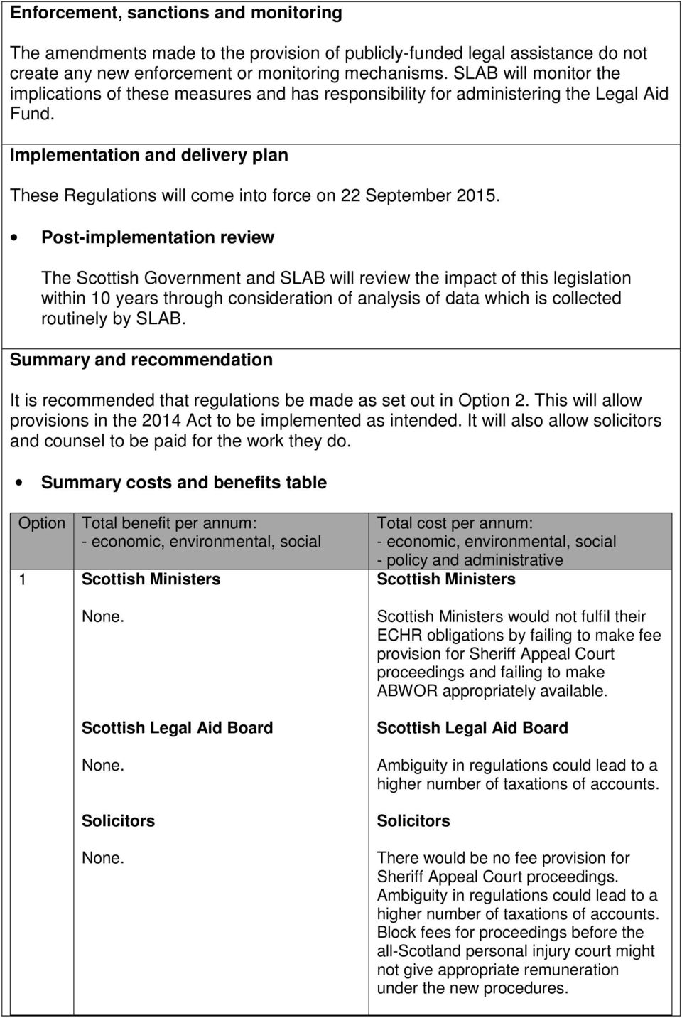 Implementation and delivery plan These Regulations will come into force on 22 September 2015.