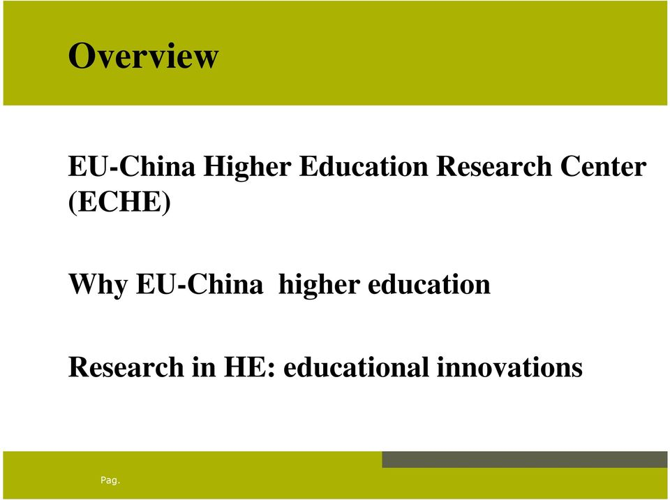 Why EU-China higher education