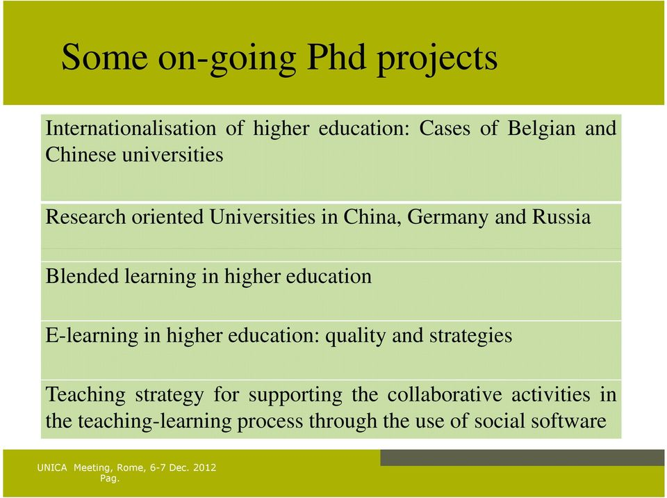 higher education E-learning in higher education: quality and strategies Teaching strategy for