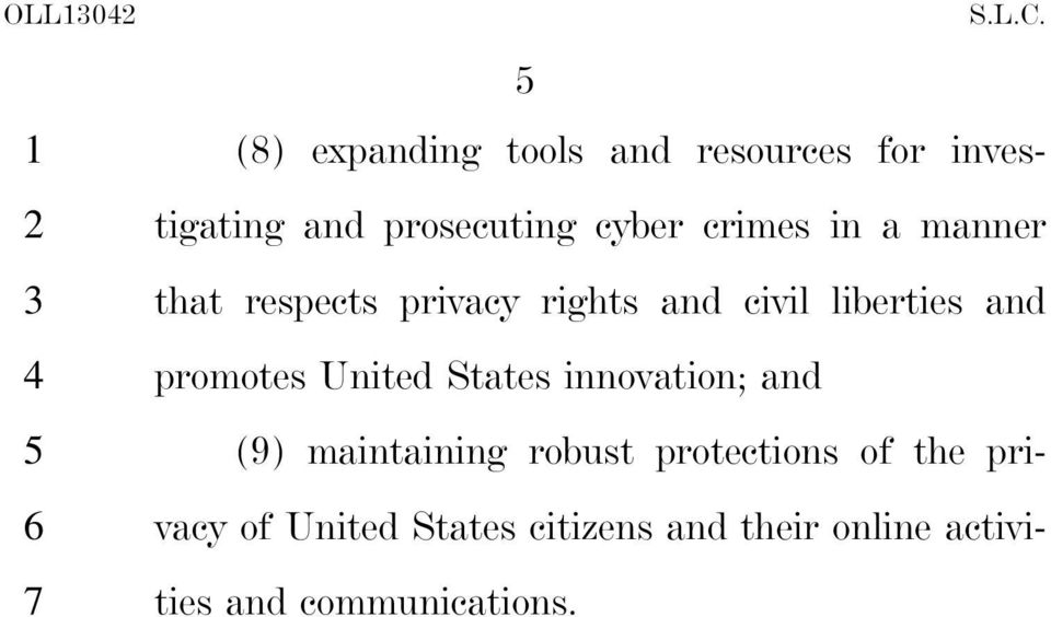 promotes United States innovation; and () maintaining robust protections of