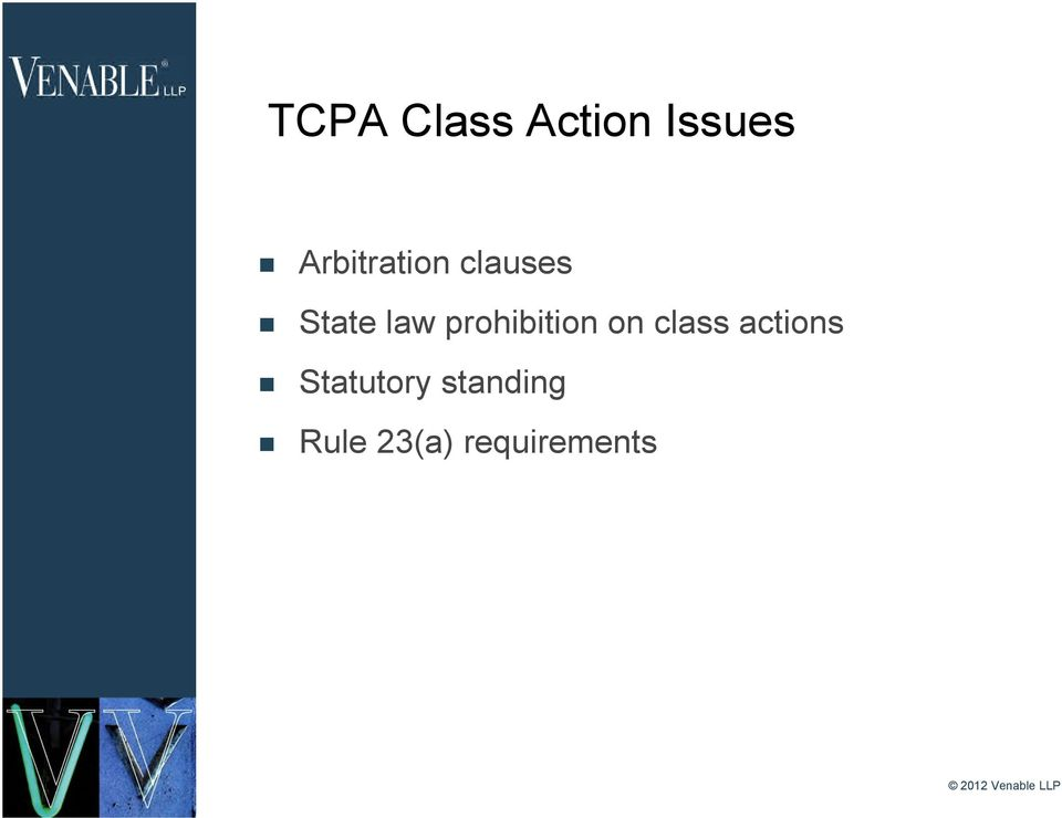 prohibition on class actions