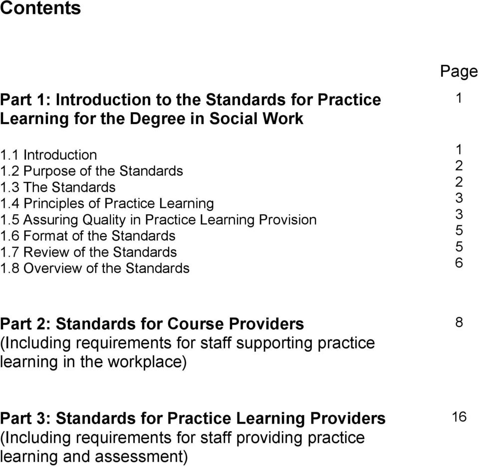 7 Review of the Standards 1.