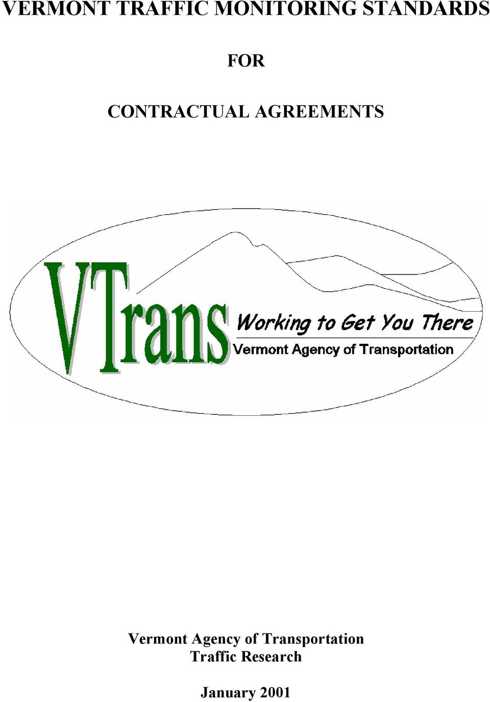 AGREEMENTS Vermont Agency of