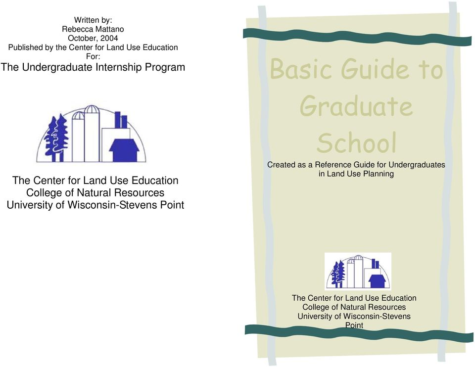 Natural Resources University of Wisconsin-Stevens Point School Created as a Reference Guide for