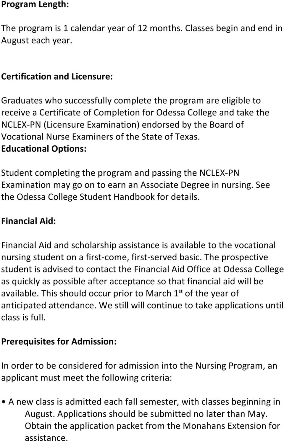 endorsed by the Board of Vocational Nurse Examiners of the State of Texas.