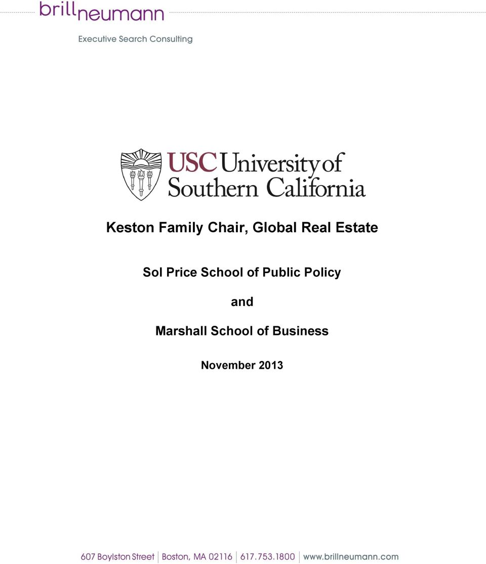 of Public Policy and Marshall