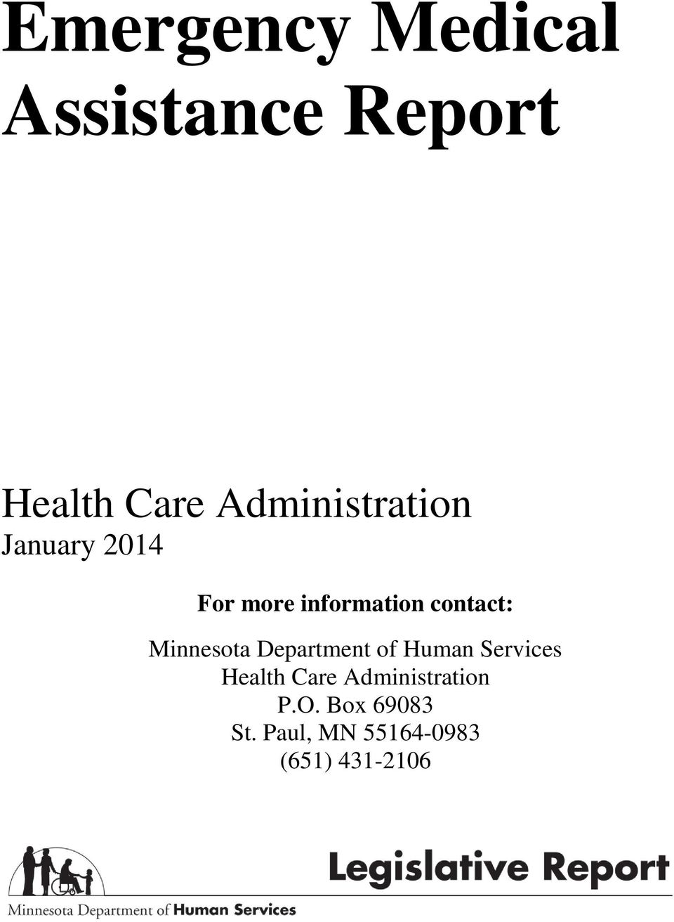 contact: Minnesota Department of Human Services Health