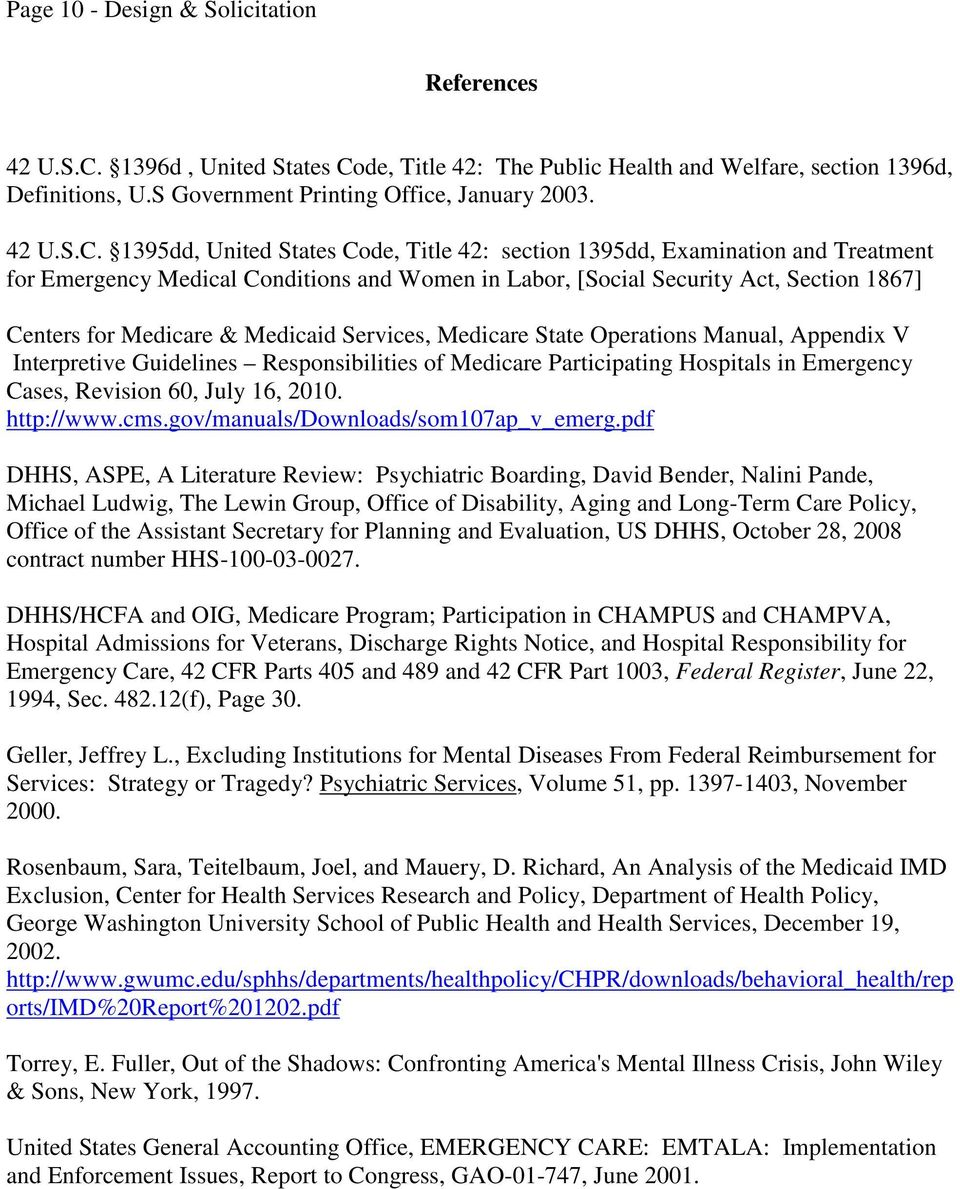 de, Title 42: The Public Health and Welfare, section 1396d, Definitions, U.S Government Printing Office, January 2003. 42 U.S.C.