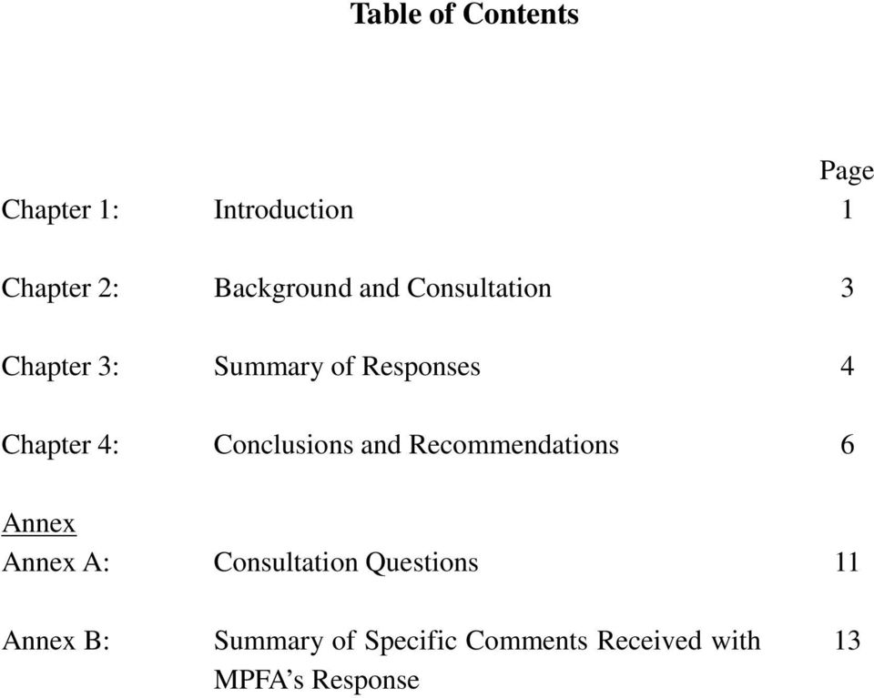 Chapter 4: Conclusions and Recommendations 6 Annex Annex A: