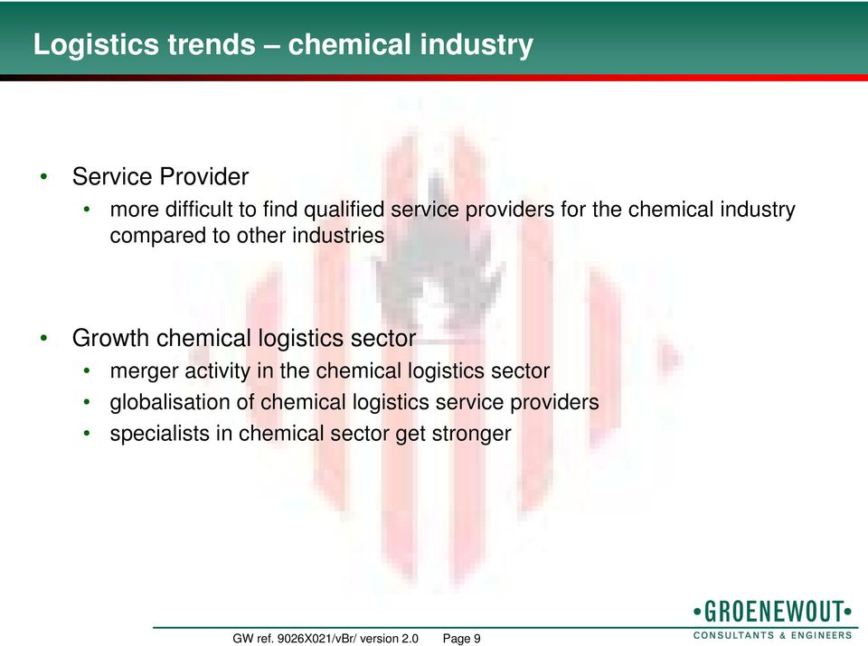 sector merger activity in the chemical logistics sector globalisation of chemical logistics