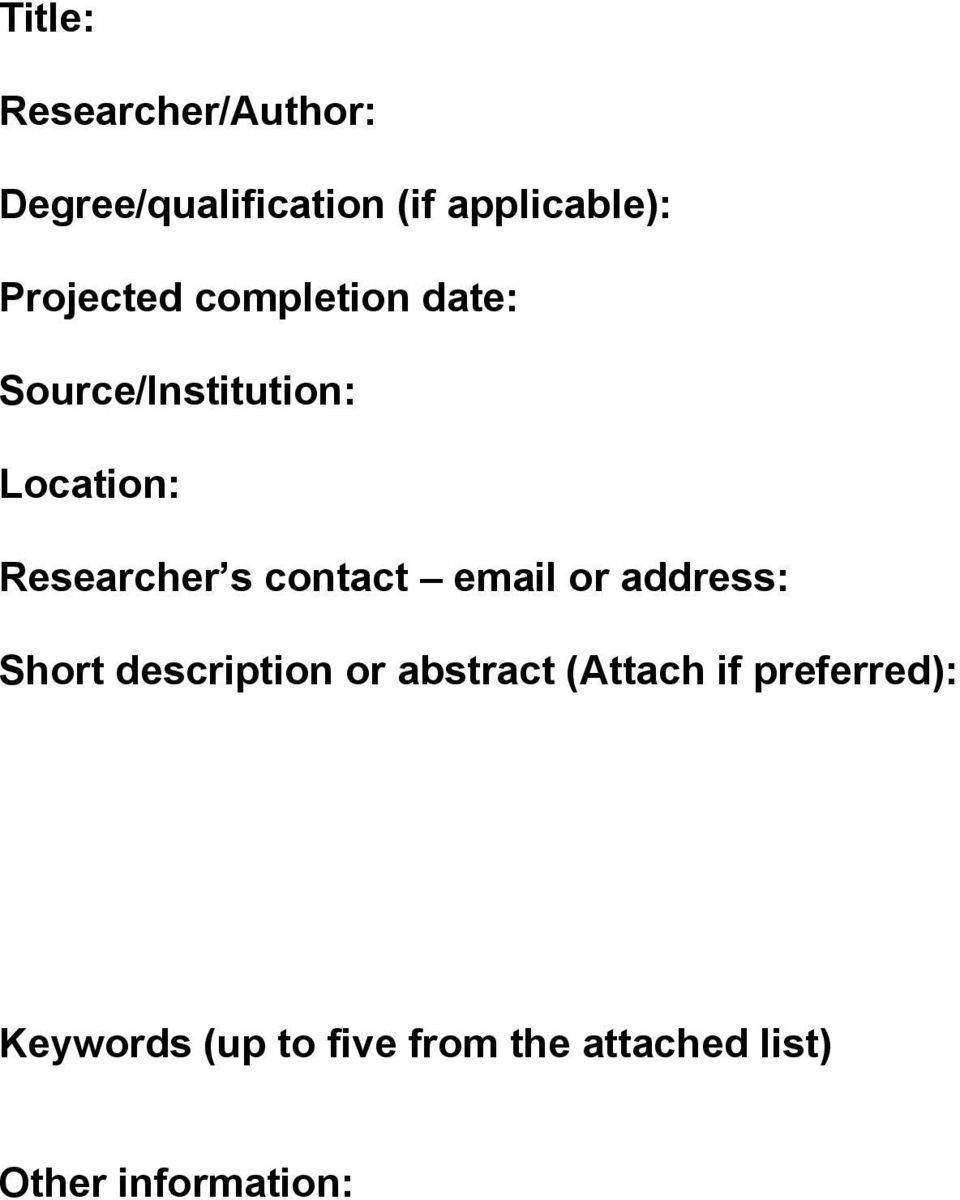 abstract (Attach if preferred):