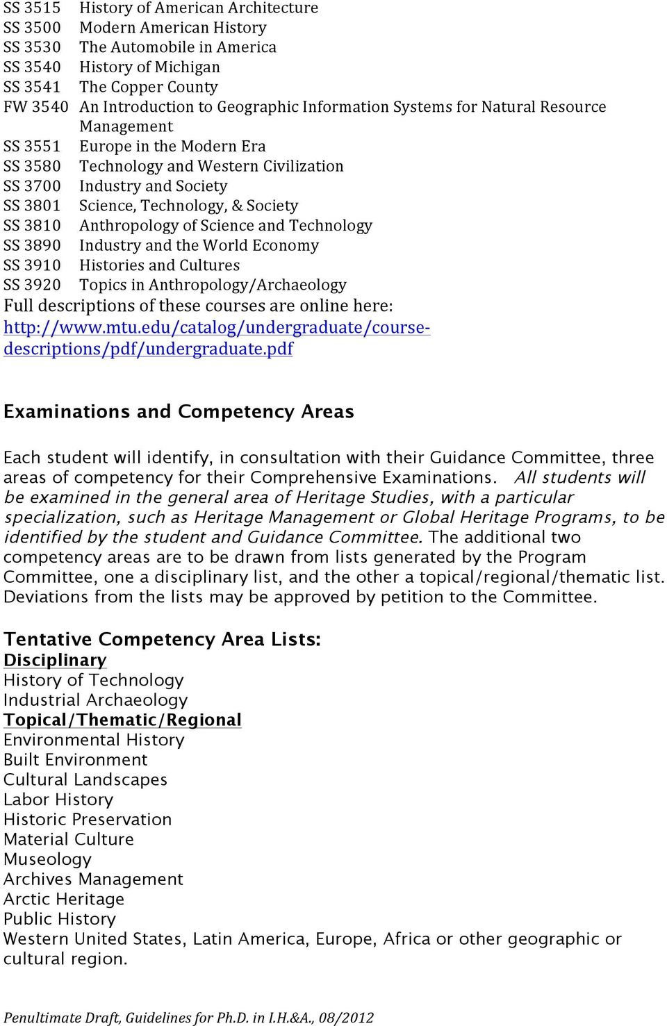 3810 Anthropology of Science and Technology SS 3890 Industry and the World Economy SS 3910 Histories and Cultures SS 3920 Topics in Anthropology/Archaeology Full descriptions of these courses are