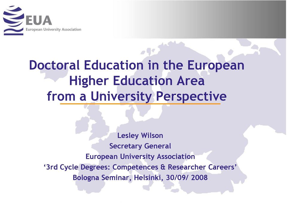 General European University Association 3rd Cycle Degrees: